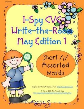 I-Spy CVC Tiny Words - Short /i/ Assorted Words (May Editi