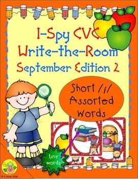 I-Spy CVC Tiny Words - Short /i/ Assorted Words (Sept. Edi