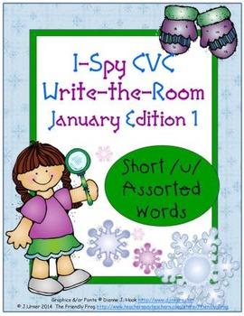 I-Spy CVC Tiny Words - Short /u/ Assorted Words (Jan. Edit