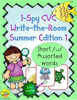 I-Spy CVC Tiny Words - Short /u/ Assorted Words (Summer Ed