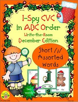 I-Spy CVC in ABC Order - Short /i/ Assorted Words (Decembe