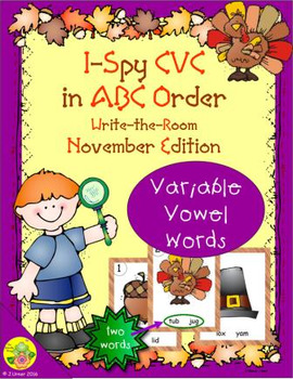 I-Spy CVC in ABC Order - Variable Vowel Words (November Edition)