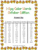 I-Spy Color Words Word Work (October Edition) Basic