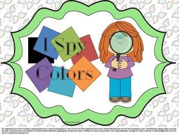 I Spy Colors - PreK, Kinder