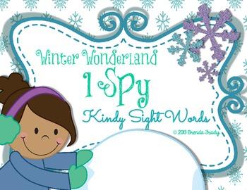 I Spy EARLY Sight Words ~Winter Edition~