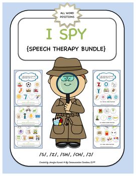 I Spy Games {Speech Therapy Bundle} S, Z, SH, CH, J