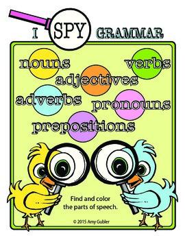 I Spy Grammar - parts of speech