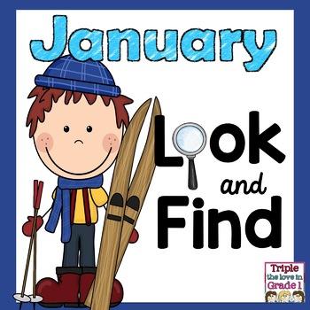 """""""I Spy"""" January Edition (January Themed Words & Sight Words)"""