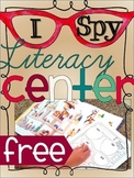 I Spy Literacy Center FREEBIE
