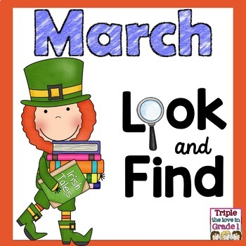 """I Spy"" March Edition (March Words & Sight Words)"