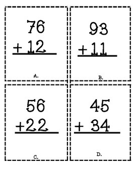 Common Core Math Review Game 1.NBT-double digit addition