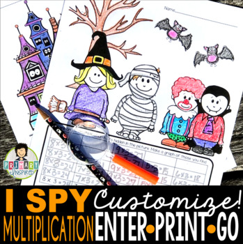 I Spy Multiplication Facts ~Halloween Edition~