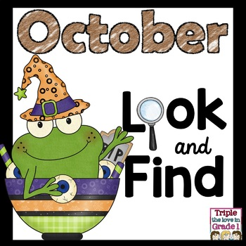 """""""I Spy"""" - October Edition (October Words, Sight Words, -ic"""