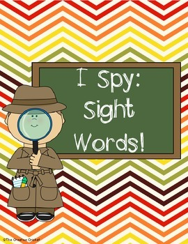 I Spy Sight Words (1st Grade Unit 1 Reading Street High Fr