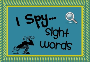 I Spy Sight Words - A sight word search activity