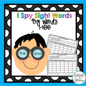 Sight Words  I Spy:  Be a Sight Word Detective Words 1-100