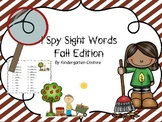 I See Tiny Sight Words - Fall Edition
