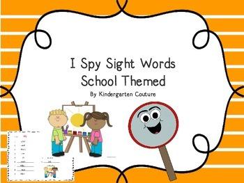 I Spy Sight Words -School Theme