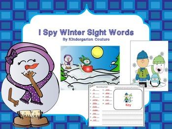 I See Tiny Sight Words -Winter