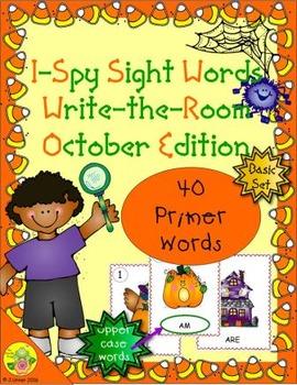 I-Spy Sight Words Word Work - Primer Words (Oct. Edition) Basic
