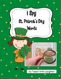 I Spy St. Patrick's Day Words