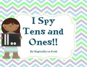 I Spy Tens and Ones! - Base Ten I spy