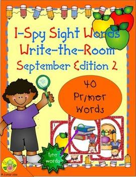 I-Spy Tiny Sight Words - Primer Words (Sept. Edition) Set 2