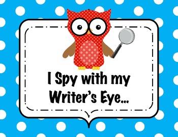 I Spy with my Writer's Eye - Owl Themed