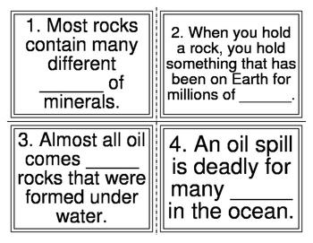 I-Station Vocabulary Cloze Rock Facts Task Cards (28 Cards)