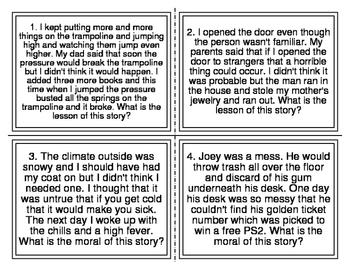 I-Station Vocabulary Moral Reading Task Cards