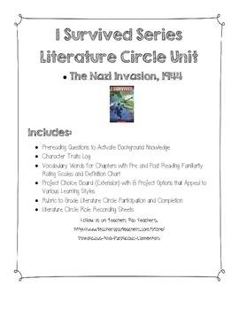 I Survived Nazi Invasion Literature Circle Jobs Vocabulary