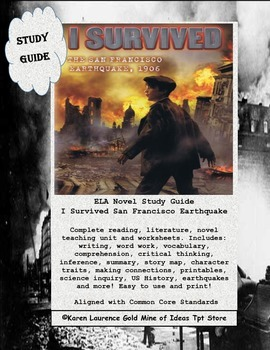 I Survived San Francisco Earthquake 1906, ELA Book Study G