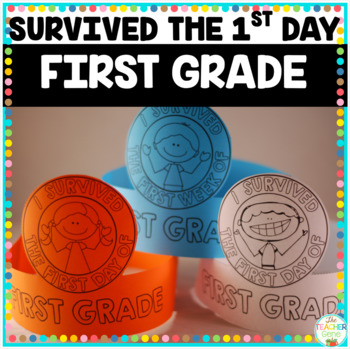 I Survived the First Day {and Week} of First Grade Crowns