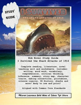 I Survived the Shark Attacks of 1916, ELA Book Study Guide