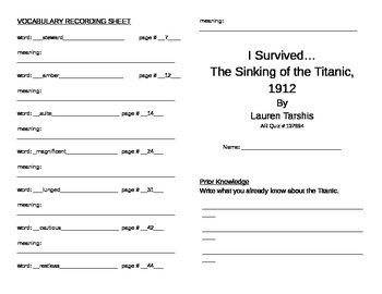 I Survived the Sinking of the Titanic Literature Unit