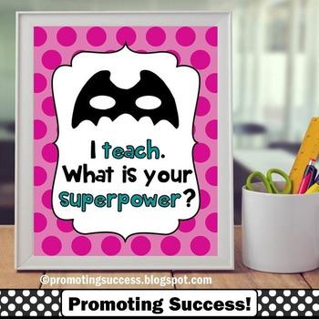 Teacher Appreciation Week Gift Ideas Printable Superpower