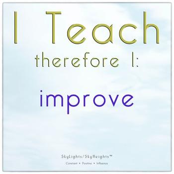I Teach therefore I: improve
