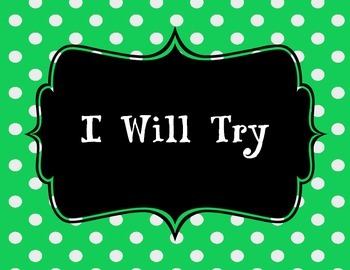I WILL TRY Poster set
