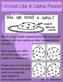 I WOULD LIKE A COOKIE PLEASE! Communication Aid Speech Autism