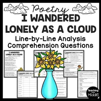 I Wandered Lonely As A Cloud Poem Reading Guide, Reading C