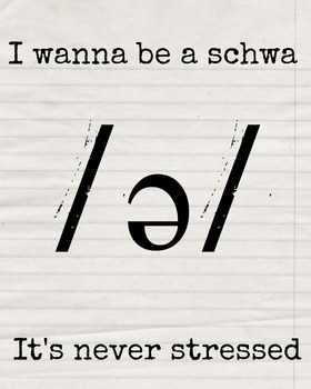 I Wanna Be A Schwa