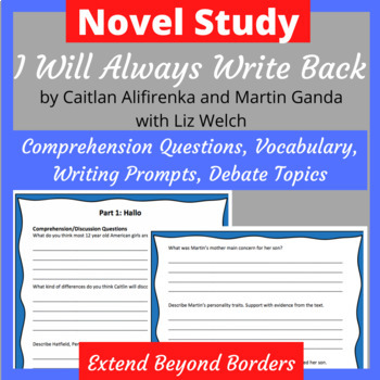 I Will Always Write Back Novel Study