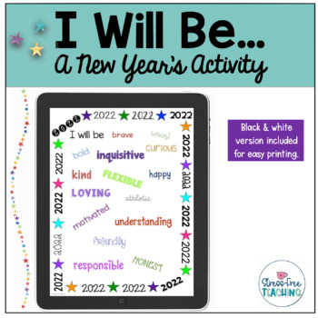 I Will Be - A Stress-Free New Year's Activity