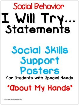 I Will Try Statements- Social Skills Support Posters (Abou