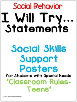 I Will Try Statements- Social Skills Support Posters (Clas