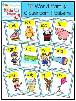 """""""I"""" Word Family Classroom Posters"""