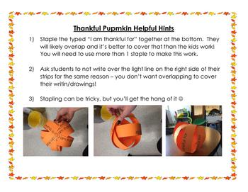 I am Thankful Pumpkin - Thanksgiving Activity