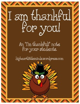 I am Thankful for you!
