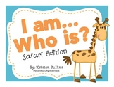 """I Am, Who Is"" Back to School Safari Cards"
