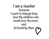 I am a teacher- Poster